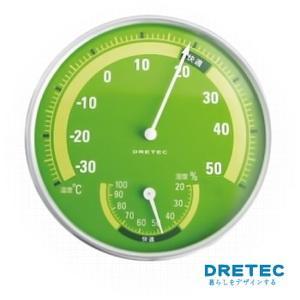 【日本DRETEC】溫濕度計-綠色