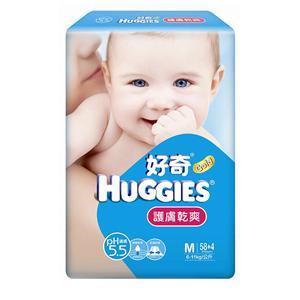 【箱購】好奇PH5.5 護膚乾爽紙尿褲_M號 (58P+8P)X4包/箱