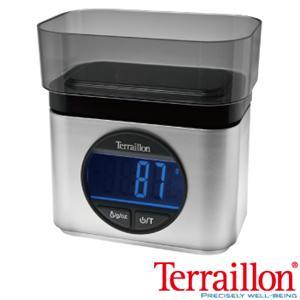 【Terraillon】法國直立式指針料理秤+盆時尚銀(Ba22 mythique )