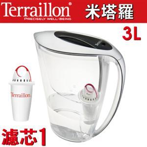 【Terraillon】法國米塔羅濾水壺3L濾水壺-神秘銀(附濾芯X1)