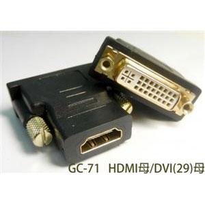 SCE HDMI(19)母轉DVI(24+5)母 轉接頭