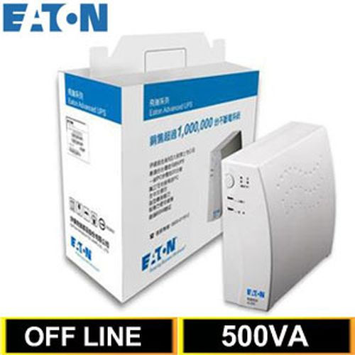 Eaton飞瑞 500VA Off-Line 离线式UPS不断电系统 A500