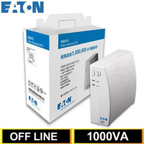 Eaton飞瑞 1KVA Off-Line 离线式UPS不断电系统 A1000