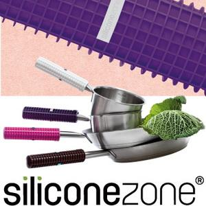 【Siliconezone 】施理康耐熱矽膠方格防燙鍋把套-葡萄紫(共4色)