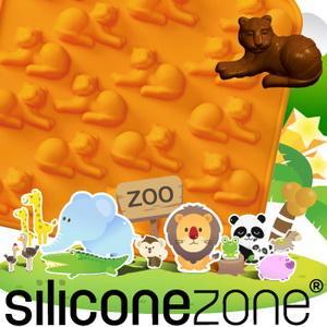 【Siliconezone 】施理康ZOO耐熱巧克力模/冰模-橘老虎 (共5款)