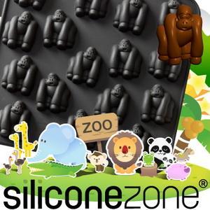 【Siliconezone 】施理康ZOO耐熱巧克力模/冰模-黑猩猩(共5款)