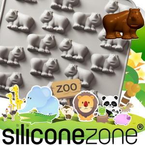 【Siliconezone 】施理康ZOO耐熱巧克力模/冰模-犀牛(共5款)