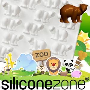 【Siliconezone 】施理康ZOO耐熱巧克力模/冰模-白北極熊(共5款)