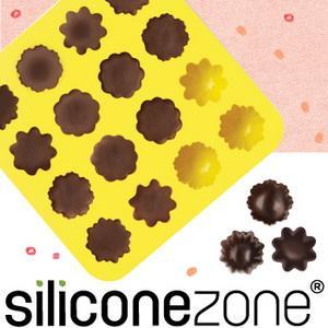 【Siliconezone 】施理康耐熱小花造型巧克力模/冰模