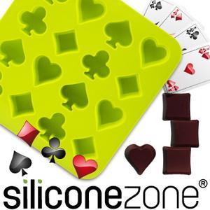 【Siliconezone 】施理康耐熱撲克造型巧克力模/冰模