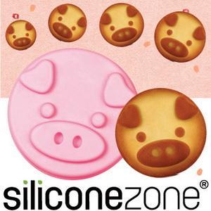 【Siliconezone 】施理康耐熱粉紅小豬造型小蛋糕模