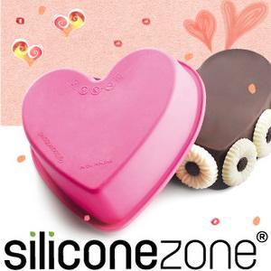 【Siliconezone 】施理康耐熱愛心造型小蛋糕模