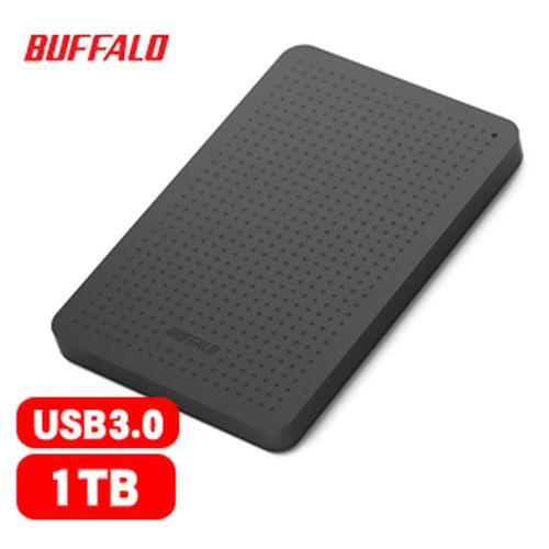 【網購獨享優惠】BUFFALO 巴比祿 2.5吋 1TB 外接硬碟 黑 HD-PCF