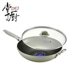 【CHEF掌廚】日本理研附玻蓋煎炒鍋_30CM