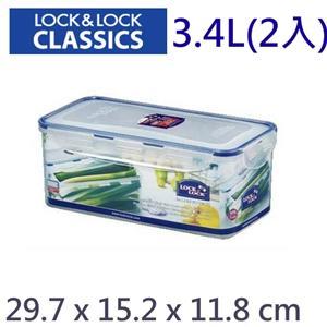 Lock & Lock 樂扣樂扣 微波保鮮盒 (3.4L 2入) HPL848