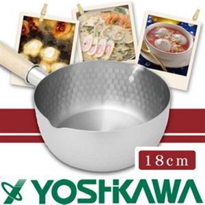 【YOSHIKAWA】 日本本職槌目IH不鏽鋼雪平鍋18cm