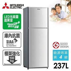 MITSUBISHI三菱【237L】負離子雙門電冰箱(MR-FT24E)-銀灰色