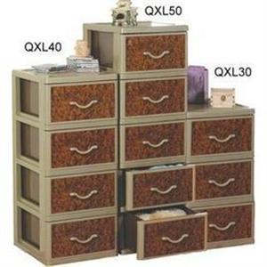 聯府 QXL30核桃木三層櫃(附輪) (3層櫃)