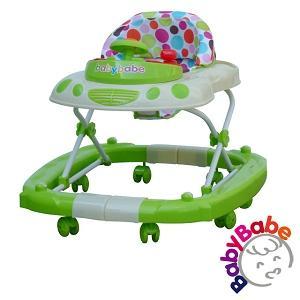 ★台灣製★【BabyBabe】多功能汽車嬰幼兒學步車-綠