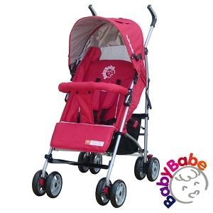【BabyBabe】加寬全罩平躺傘車-紅
