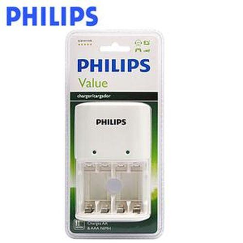 PHILIPS 飛利浦 SCB1411WB 四槽充電器 白色