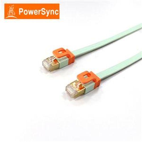 PowerSync  CAT7扁線室內設計款1米(淺綠)