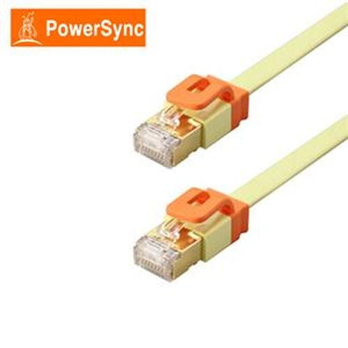 PowerSync CAT7 扁線室內設計款2米(檸檬黃)