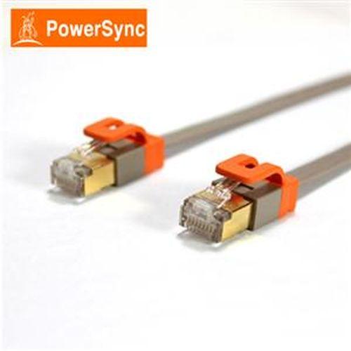 PowerSync CAT7 扁線室內設計款2米(灰)