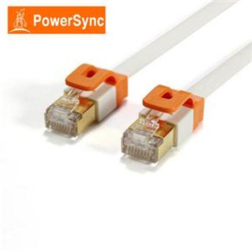 PowerSync CAT7 扁線室內設計款 2米(百合白色)