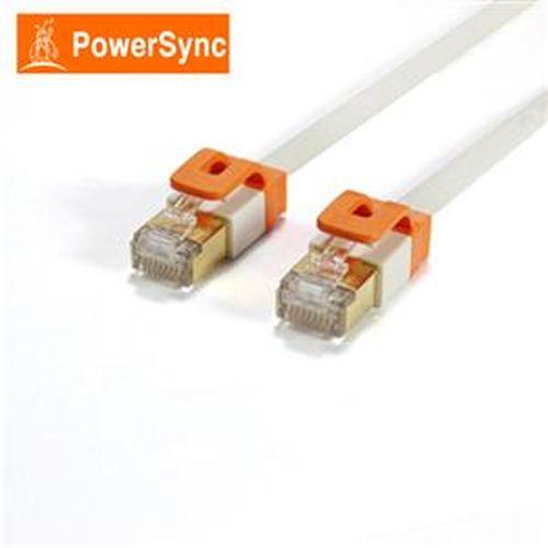 PowerSync CAT7 扁線室內設計款 3米(百合白色)