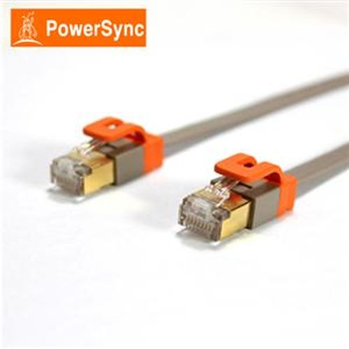 PowerSync CAT7 扁線室內設計款3米(灰)