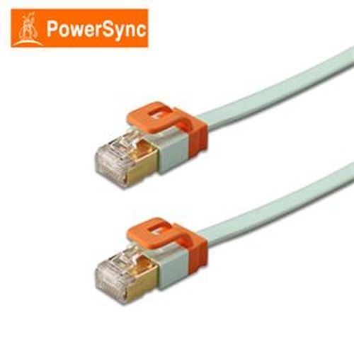 PowerSync CAT7 扁線室內設計款3米(淺綠)