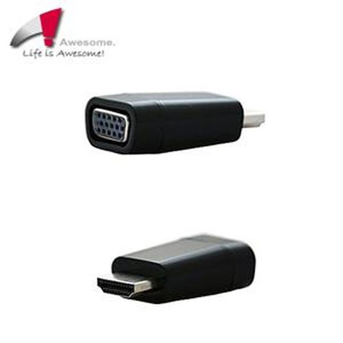 Awesome HDMI A/M to VGA免電源轉接器(終身保固)-A00240011