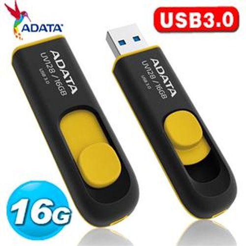 ADATA 威剛 UV128 16GB USB3.0 隨身碟  黃色