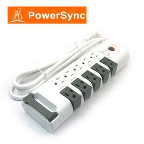 【網購獨享優惠】PowerSync群加 PWS-ERT1018 十孔旋轉防雷擊延長線 (1.8)