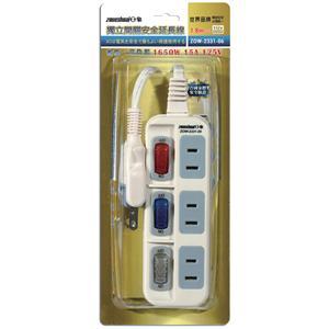 【日象】2孔3開關3插座獨立開關安全延長線/1.8公尺 (6尺) ZOW-2331-06