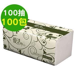 【量販組】Livi優活 抽取式衛生紙 100抽x100包/箱