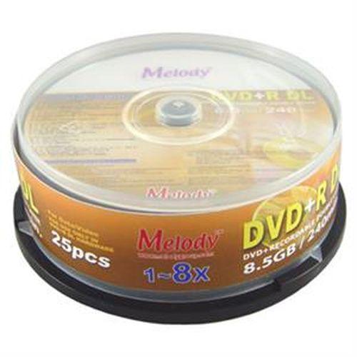 Melody 單面雙層 DVD+R DL片8.5GB  25入裝