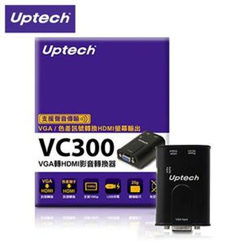 Uptech 登昌恆 VC300 VGA轉 HDMI 影音轉換器