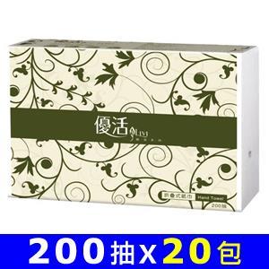 【量販組】Livi優活 擦手紙 200張*20包/箱