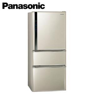 Panasonic國際牌ECO NAVI+nanoe雙科技三門電冰箱NRC618NHV(L)香檳金