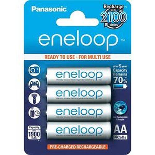 【網購獨享優惠】Panasonic eneloop 3號2000mAh低自放鎳氫充電電池 4入裝