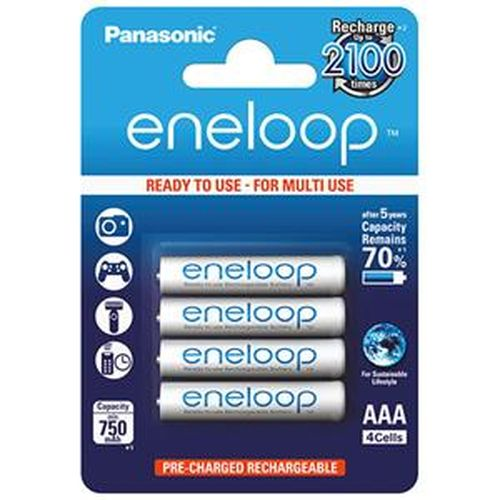 Panasonic eneloop 4號750mAh低自放鎳氫充電電池 4入裝