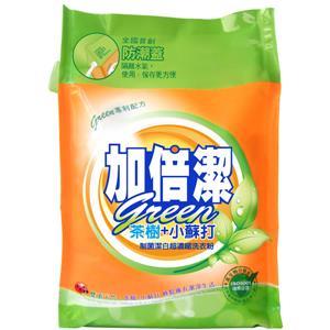 加倍潔 茶樹+小蘇打制菌潔白 超濃縮洗衣粉 補充包 2kgX6袋/箱