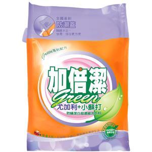 加倍潔 尤加利+小蘇打防螨潔白  超濃縮洗衣粉 補充包 2kgX6袋/箱