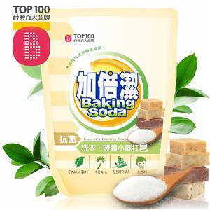 加倍潔 洗衣液體小蘇打皂(抗菌配方) 補充包1800gmX8包/箱+送抽取式衛生紙100抽x2包