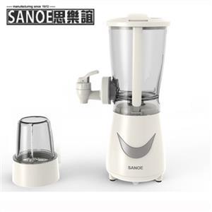 思樂誼SANOE 生機健康果汁機(附研磨杯)-白 B24