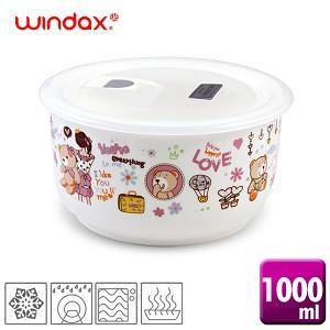 ★韓國原裝★《WINDAX》可愛熊陶瓷微波碗(1000ml)