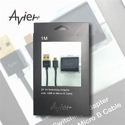 【Avier】高速單孔旅充5V-1A + micro USB 1米充電傳輸線(黑) H51U-BK