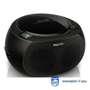 【PHILIPS飛利浦】黑旋風USB/CD手提音響 AZ380/AZ-380